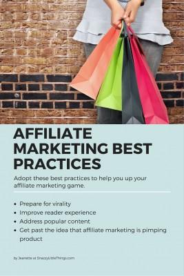 Affiliate marketing best practices