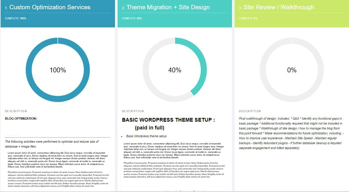 Project Management Portal sample