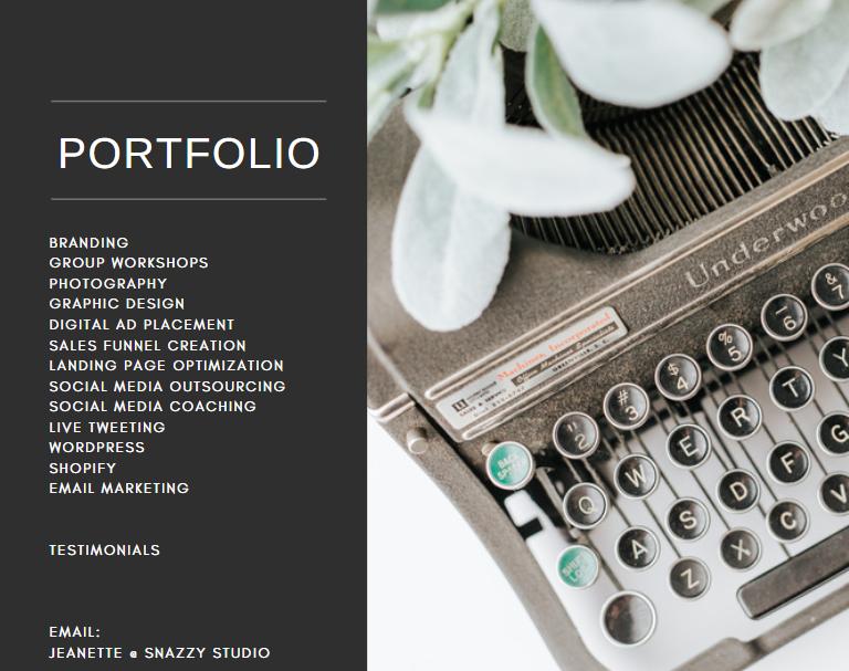 snazzy studio portfolio